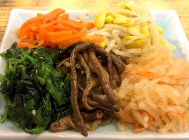 レンジを使えば簡単!青梗菜とニンジンのナムル